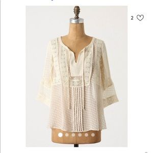 Anthropologie Meadow Rue D'Espirit Sheer Lace Top